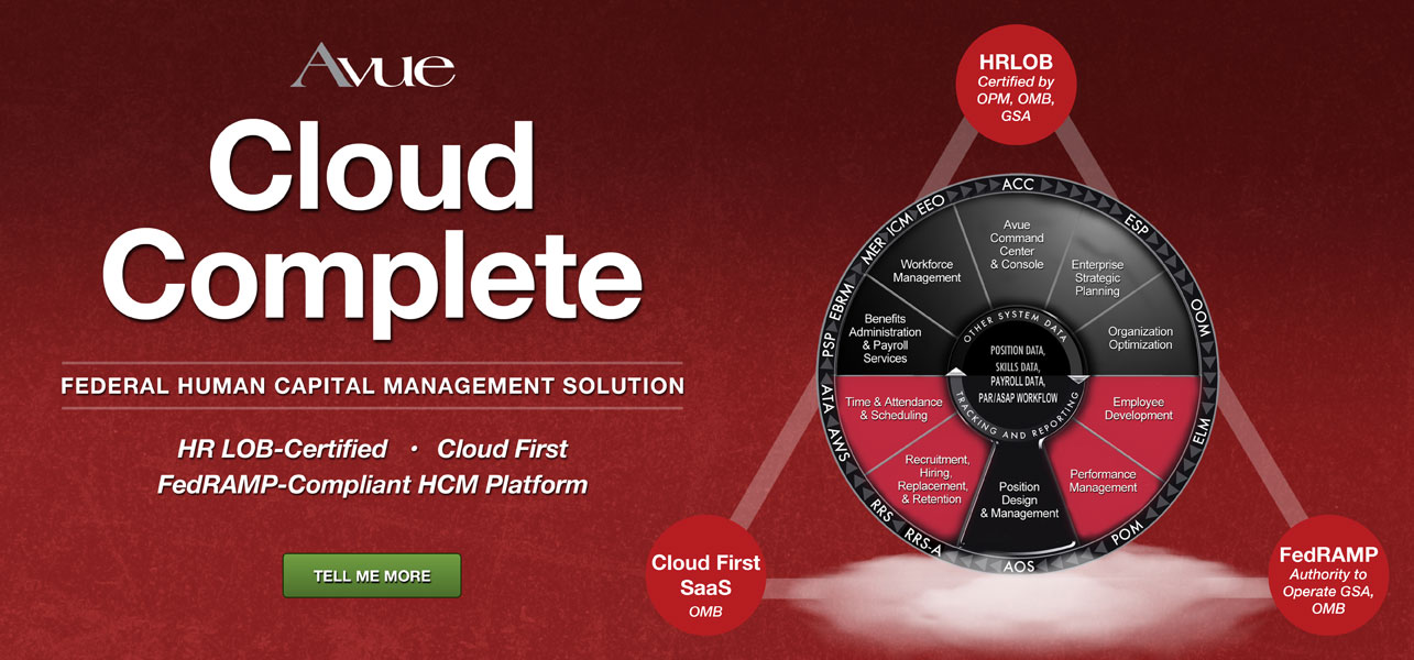 Avue Cloud Complete Federal Human Capital Management Solution